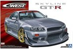 Aoshima 05542 - 1/24 C-West BNR34 Nissan Skyline GT-R 02 The Tuned Car No.50