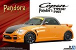 Aoshima 05543 - 1/24 Pandora Type 887 Evo II L880K Copen '02 (Daihatsu) The Tuned Car No.51