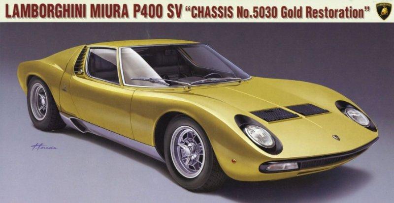 20319 Lamborghini Miura P400 Sv Chassis No 5030 Gold Restoration