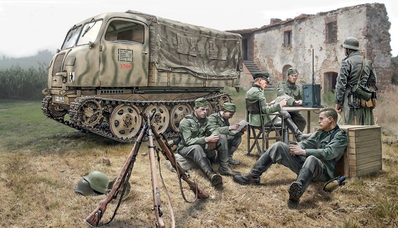 Italeri 6549 - 1/35 Steyer RSO/O1 With German Soldiers