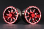 Aluminum 1.9'' Beadlock 8 Spokes Wheels (TYPE E) - Red