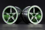 Aluminum 2.2'' 5-Spokes Wheels Set - Green