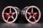 Aluminum 2.2'' 5-Spokes Wheels Set - Red