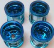Tamiya #9804725 - WR02 Wheel Bag (Blue, 4pcs) for Suzuki Jimny Wheelie