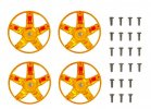 Tamiya #47415 - WR-02CB S-Parts Spokes (Orange Plated)