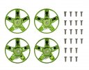 Tamiya #47416 - WR-02CB S-Parts Spokes (Green Plated)